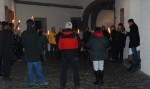 """24.11.2013: Der """"Schandgang"""" startet auf der Mainzer Zitadelle."""