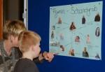 13.2.2014: Die Schüler haben den Hauptpersonen des Romans Lehrerbilder zugewiesen - herrlich!