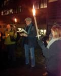 """17.12.2014: """"Schandgang"""" durch Mainz, Literatur und Wein sind griffbereit."""