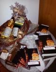 """8.12.2013: Ein schöner Büchertisch im Weingut Wilmshof in Selzen, passend zur """"Winterzauber""""-Veranstaltung."""
