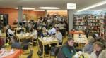 28.2.2016: Frühstücksbuffet-Andrang bei der Wormser Lesung.